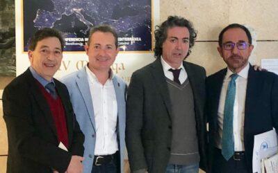 Antonio Camaró junto al jeque Bentounes de la ONU, el embajador de la Unesco en España Andrés Perelló y el Alcalde de Xirivella Michel Montaner.
