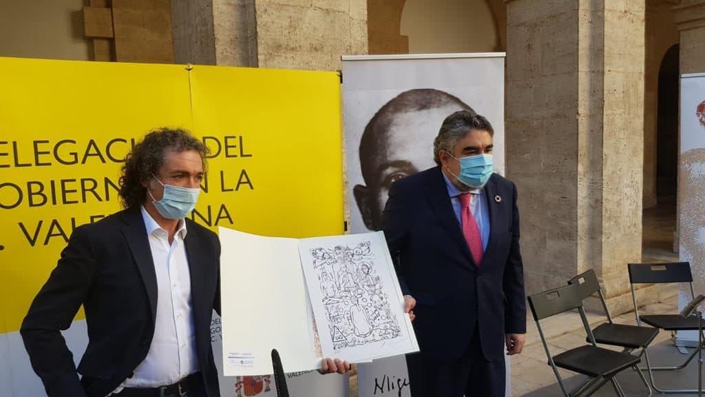 El artista del compromiso social Antonio Camaró prepara un cuadro dedicado a Miguel Hernández