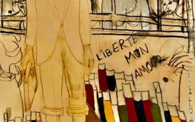 """Camaró recurre a la luz de la poesía de Miguel Hernández en un nuevo cuadro  """"Liberté, Mon Amour"""" de su colección """"La Resistencia Mental"""""""