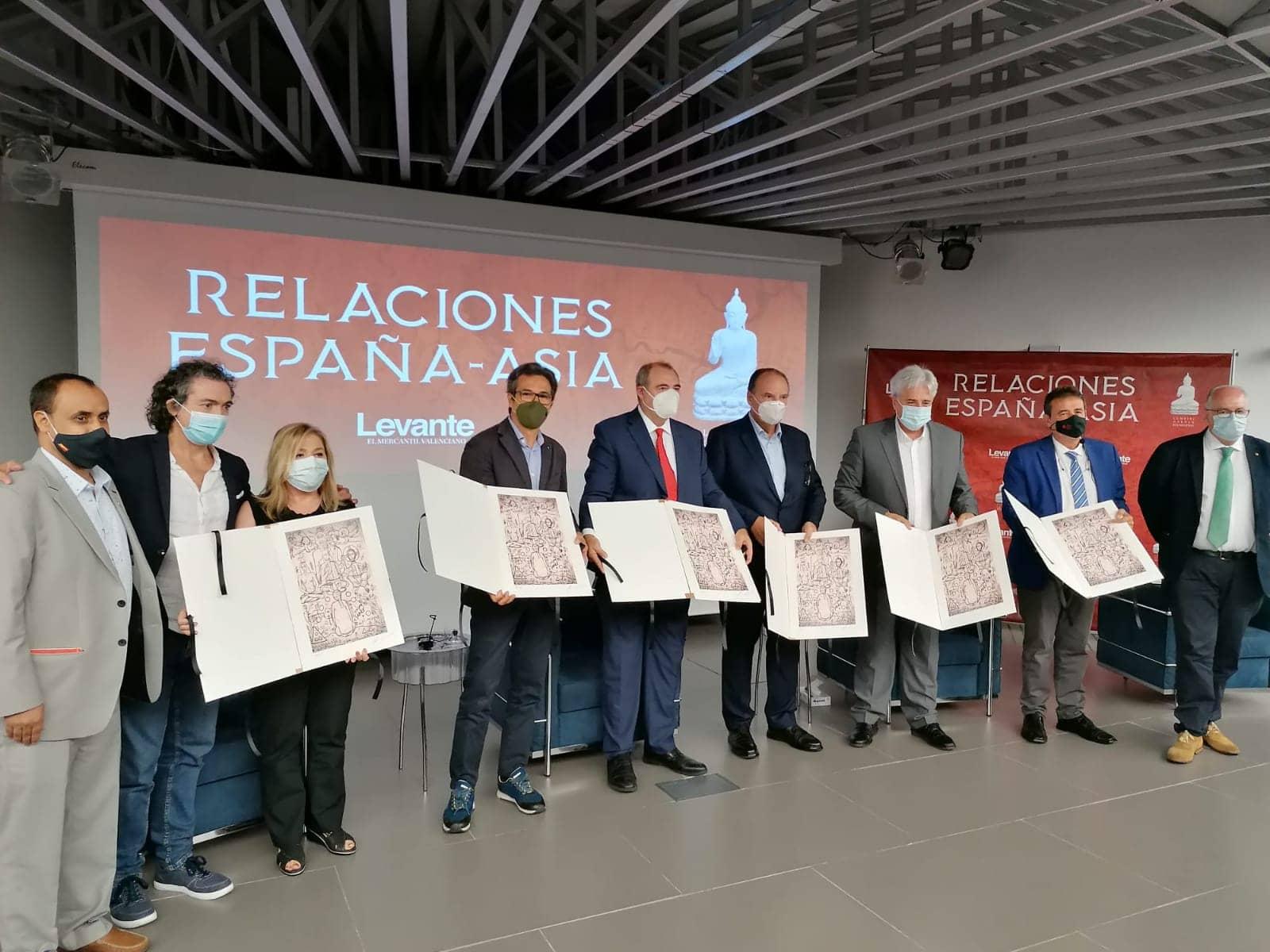 """Conferencia en el Club Diario Levante-EMV: """"Relaciones España-Asia"""". Zéosis. Camaró"""