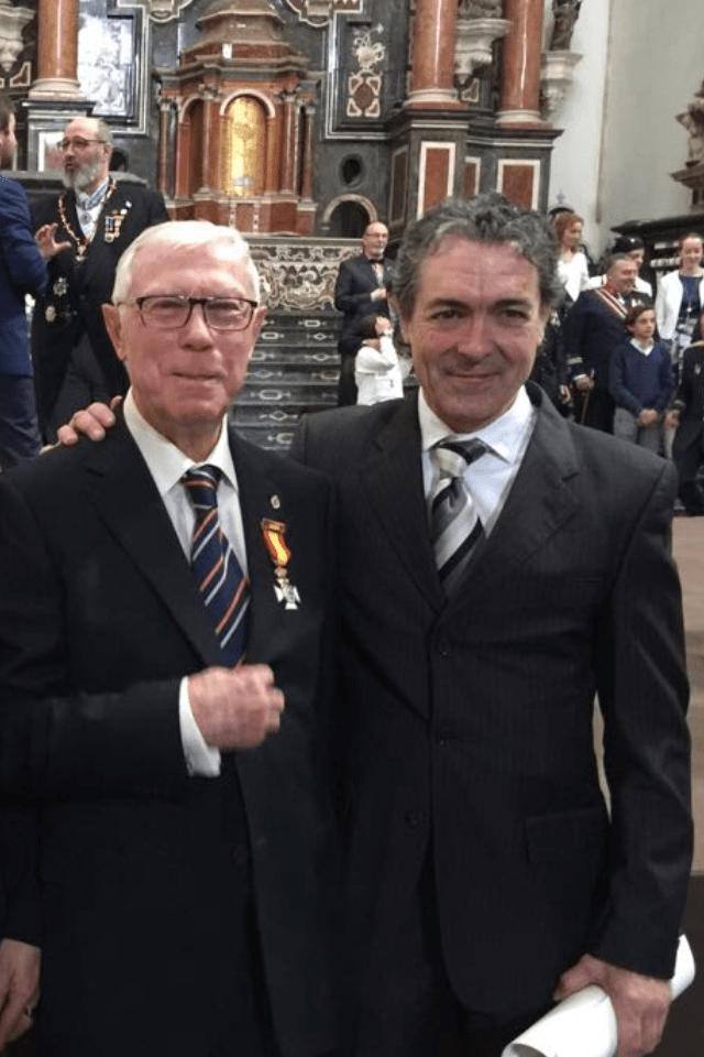 Antonio Camaró junto al seleccionado para premio Nobel Rafael Sentandreu en la Academia Internacional de Ciencias Artes y Humanidades en el acto de Investidura, La Libertad del ser humano, l' Homme Postmoderne.