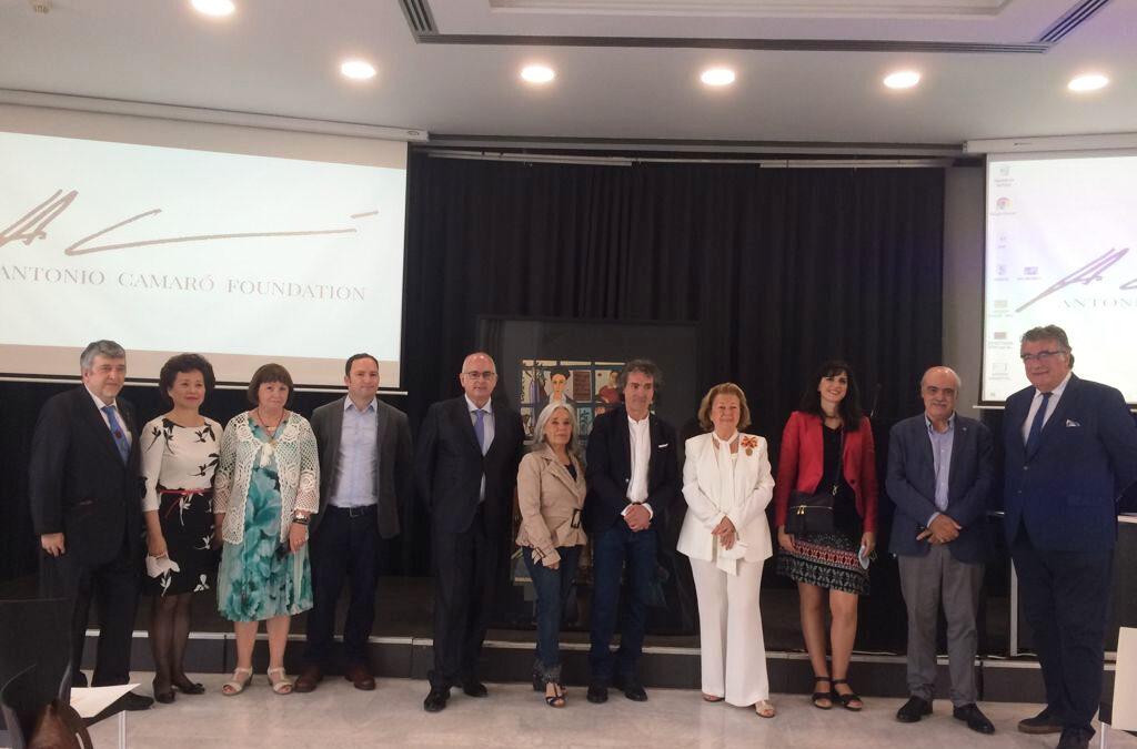 """Camaró reúne en Madrid al mundo de la cultura con la presentación de """"Liberté, Mon Amour"""" cuadro dedicado al poeta Miguel Hernández"""